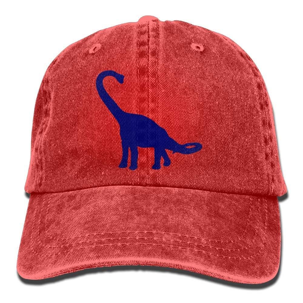 Get Quotations · Adjustable Cowboy Style Baseball Cap Hat Blue Dinosaur  Unisex Vintage Washed Dyed Cotton Plain Cowboy Cap 369522caee74