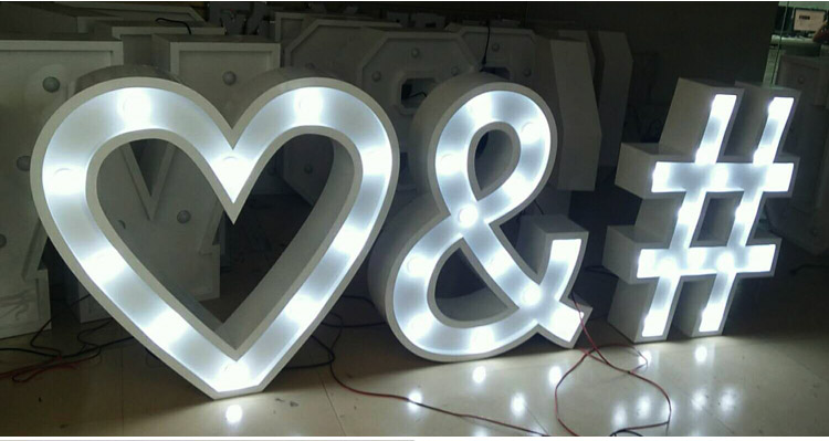 Wedding used giant love letters decorative led signs marquee letters