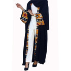New fashion black open abaya muslim dress islamic clothing wholesale