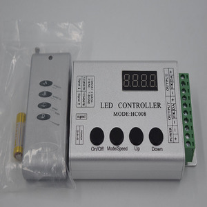 HC008 DC12V Input LED RGB Remote Controller Max Control 2048pixels With 133 Kinds of Modes Built-in