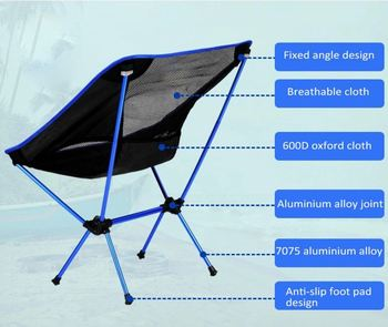 Heavy Duty Folding Camping Chairs Outdoor Camp Furniture Resting Chair Camp  Furniture With Carrying Bag,