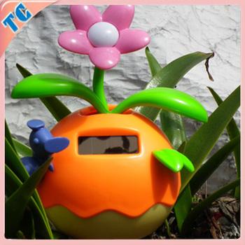 f302e42d97f68 Cute Car Decoration Flip Flap Solar Flower