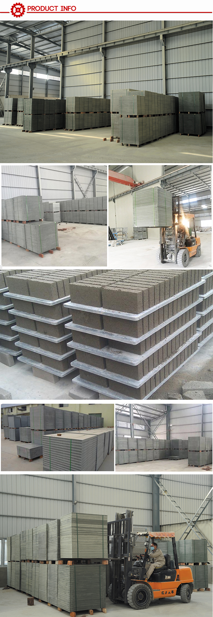 Pvc Plastic Material Pallet for Cement Block Making Machine