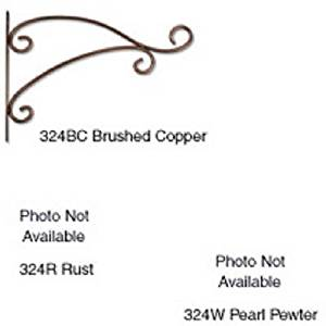 AmerTac 324BC Decorative Scroll Plant Bracket, Brushed Copper, 8.5-Inch