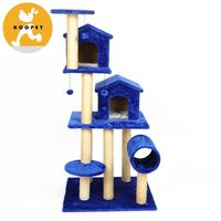 Pet tower indoor luxurious cat tree house furniture wholesale