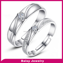 fashion 925 sterling silver king and queen couple ring