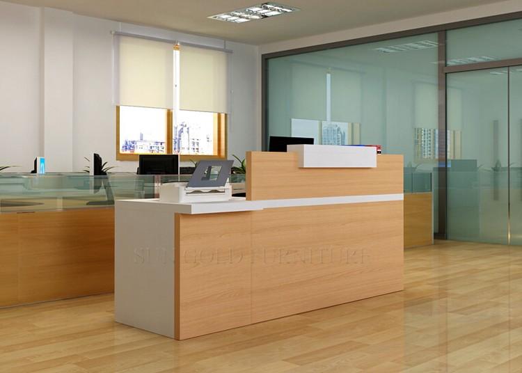 Simple modern front desk counter office reception counter design (SZ-RTB019)