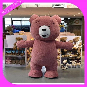 cheap Colorful plush walking Teddy Bear costumegiant Teddy Bear mascot for adults & Cheap Colorful Plush Walking Teddy Bear CostumeGiant Teddy Bear ...