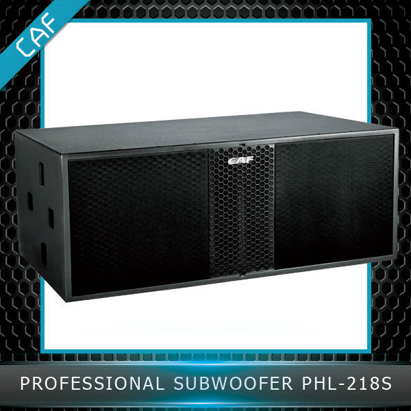 CAF Professional audio DJ dual 18 inch subwoofer