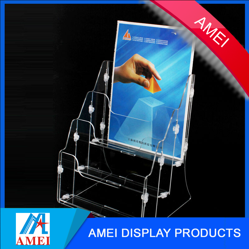 four layer acrylic L shape acrylic file holder