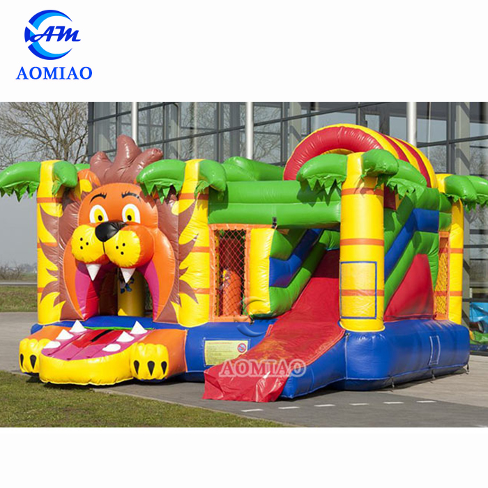 Commercial Bouncer Jumper Lion Inflatable Bounce House with Slide
