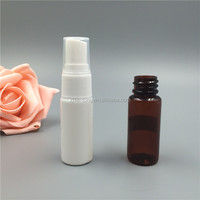 White PET plastic cosmetic bottle 15ml perfume spray bottle with pump cap for personal care