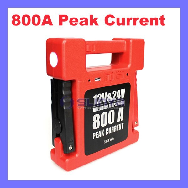 Recycle 1000 Times 800A Peak Current Most Powerful 24V Truck Jump Starter