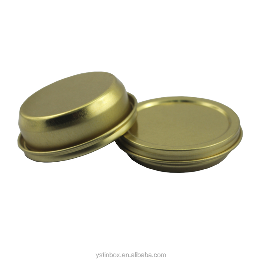 Round Vacuum Caviar tin Can with Capacity of 10ml, 30ml, 50ml, 100ml.