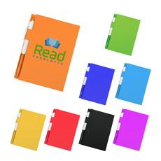 प्रचार व्यापार उपहार कॉम्पैक्ट A5 आकार 70 पृष्ठों गत्ता कवर पक्षीय लोचदार पट्टा सरल बॉल पेन कागज लाइन में खड़ा व्यायाम किताब