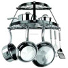 wall mount kitchen storage cookware hanging holder pan pot rack hooks