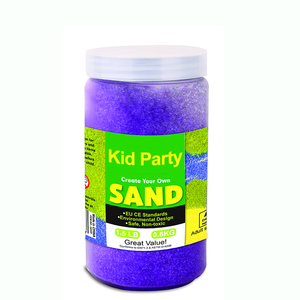 Kids DIY sand art kit with sand art cards and colored sand