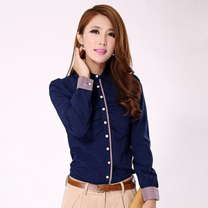 Korea Style Ladies Formal Shirts Women Business Shirts, custom designs for women