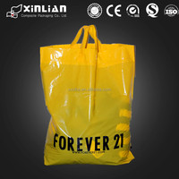 customized logo plastic shopping bag with handle