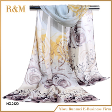 New arrival OEM quality custom silk scarf printing made in china