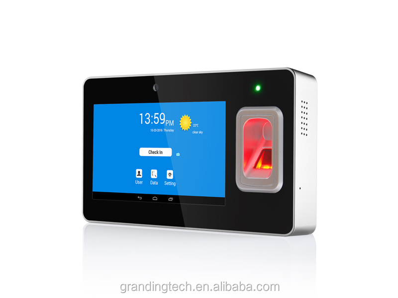 Wireless WIFI GPS Bluetooth Android Portable biometric fingerprint terminal time attendance with battery
