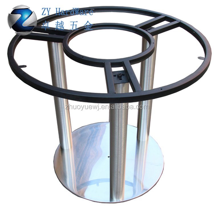 High Quality Heavy Duty Metal Round Stainless Steel Table Base With Round  Steel Table Frame For