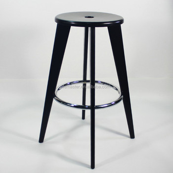 Jean Prouve Tabouret De Bar Barstool Natural Black Color Heigh 75cm Bar  Stools Bar Chairs