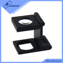(BM-MG7017) 10*15mm High Quality 1/2 inch field of view Zinc Alloy Metal Folding Magnifier Linen Tester
