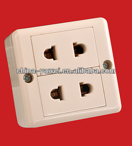 surface 2 gang wall socket/ 4 hole surface wall socket