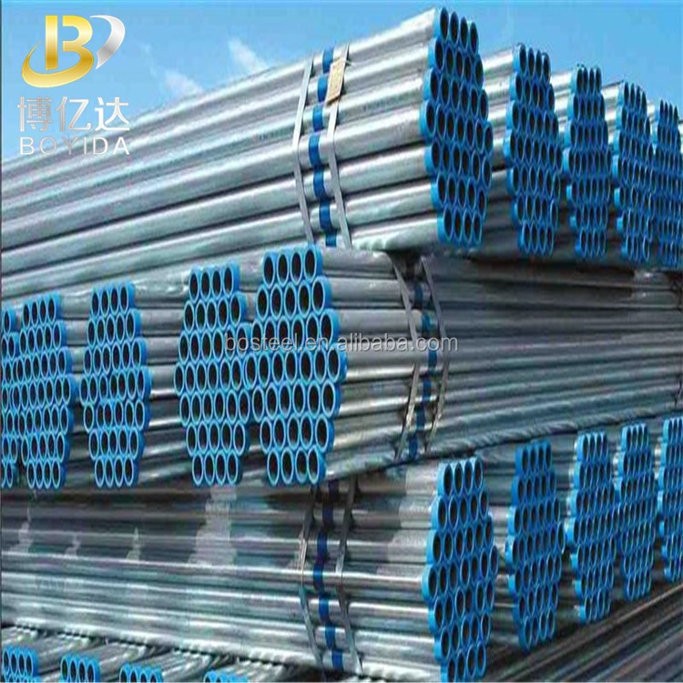 china suppliers galvanized steel pipe class c weight per meter