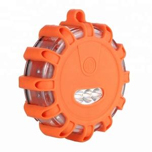 3 Pack led TPR Waterproof Flashing Safety Road Light Traffic Car Emergency Safety Disc Strobe Flash Warning Lights