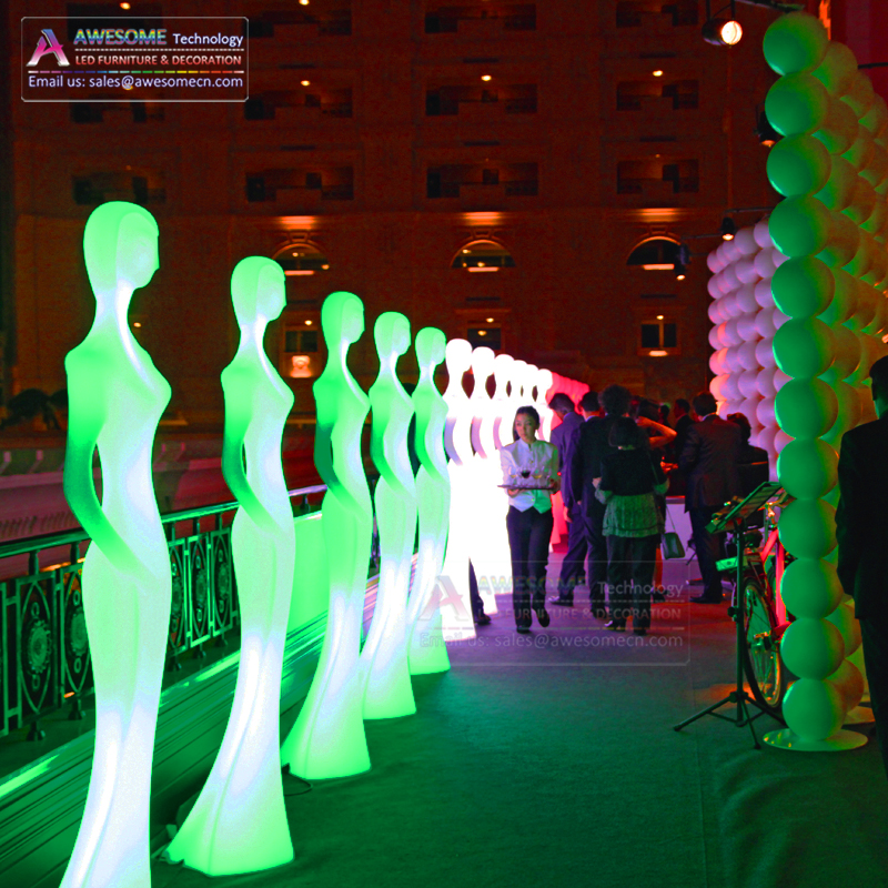 Light up หญิง mannequins led light