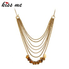 2016 American Styles Multilayer Chain Zinc Alloy Jewelry Necklace