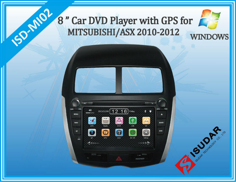 Two Din 8 Inch Car DVD Player For MITSUBISHI/ASX/PEUGEOT/4008/CITROEN/C4 With