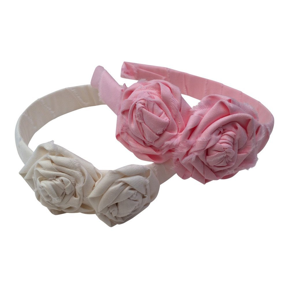 Buy Bows For Belle Fabric Rose Headband With Attached Flowers 2