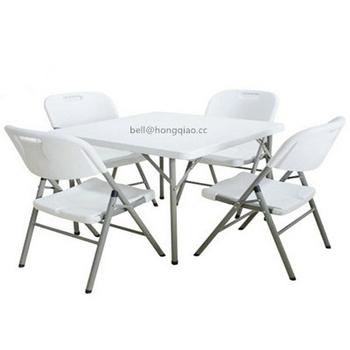 Hdpe 2 8ft White Square Folding Table