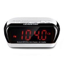 Portable Wireless Mini Multifunctional Smart Desktop Bluetooth Speaker Clock Amplifier FM Radio Time Display TF Card Slot