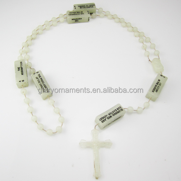 Glow in the dark jewelry prayer beads rosaries