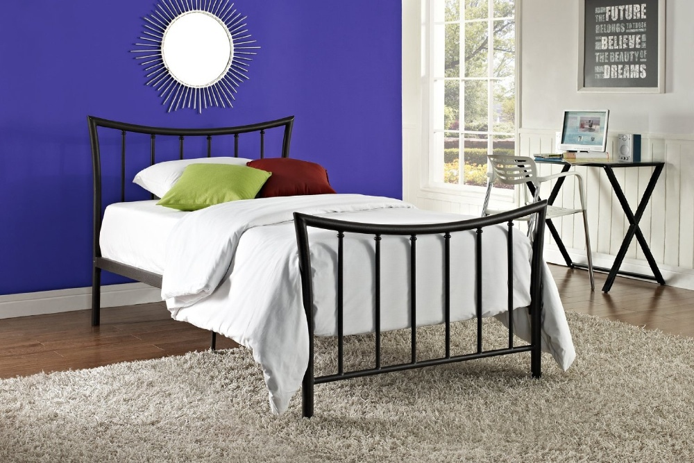 Design moderne pas cher plate forme m tallique cadre de lit double queen li - Structure de lit pas cher ...
