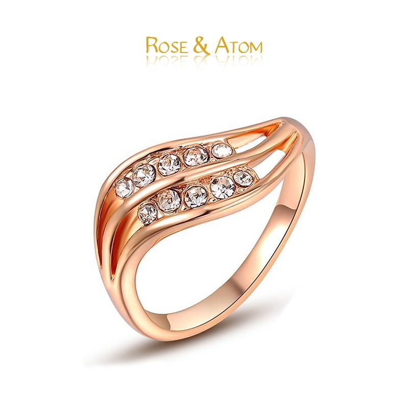 High Polishing Rings 18K Rose Gold Plated Australia