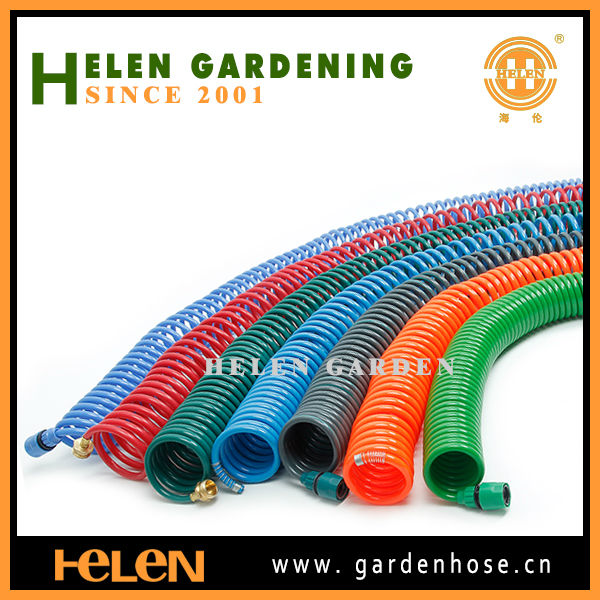 2014 best quality 15m garden EVA coil hose with nozzle and connectors