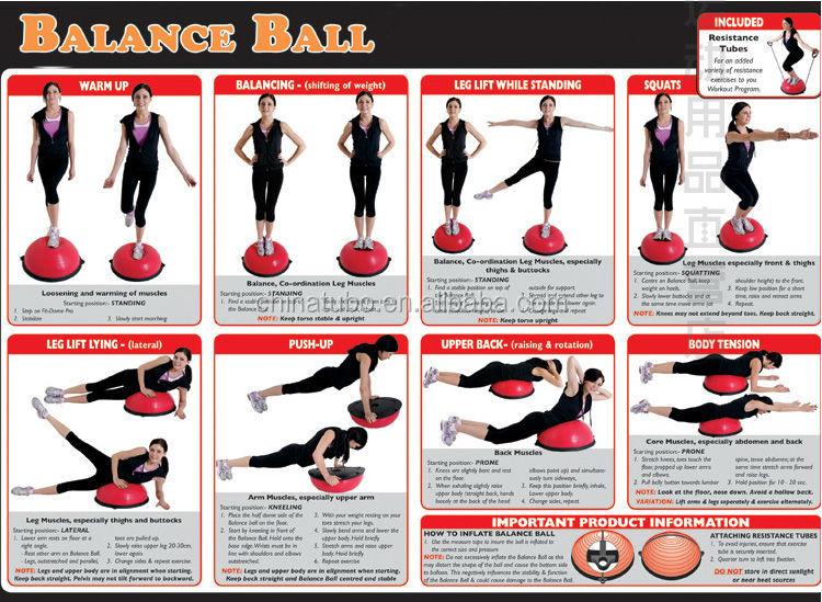 Bosu Professional Balance Trainer Agility Training Yoga Fitness Balancing Ball