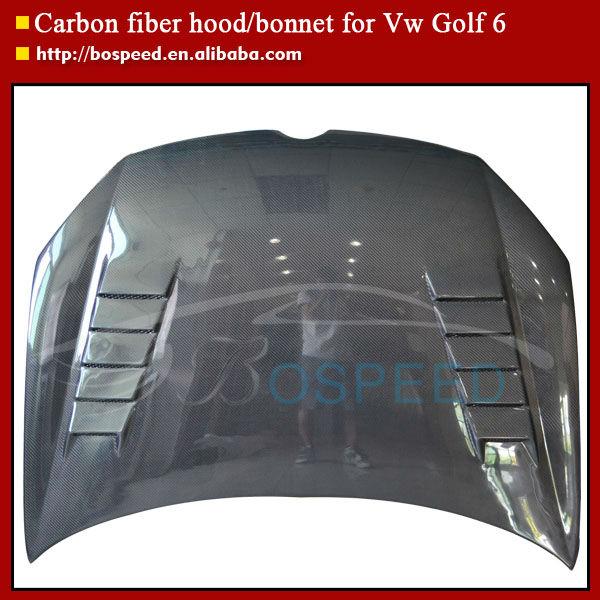 golf 6 kohlefaser motorhaube f r vw golf 6 carbon. Black Bedroom Furniture Sets. Home Design Ideas