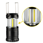 Goldmore high bright Battery Operated emergency collapsible COB camping lantern with magnet&hook