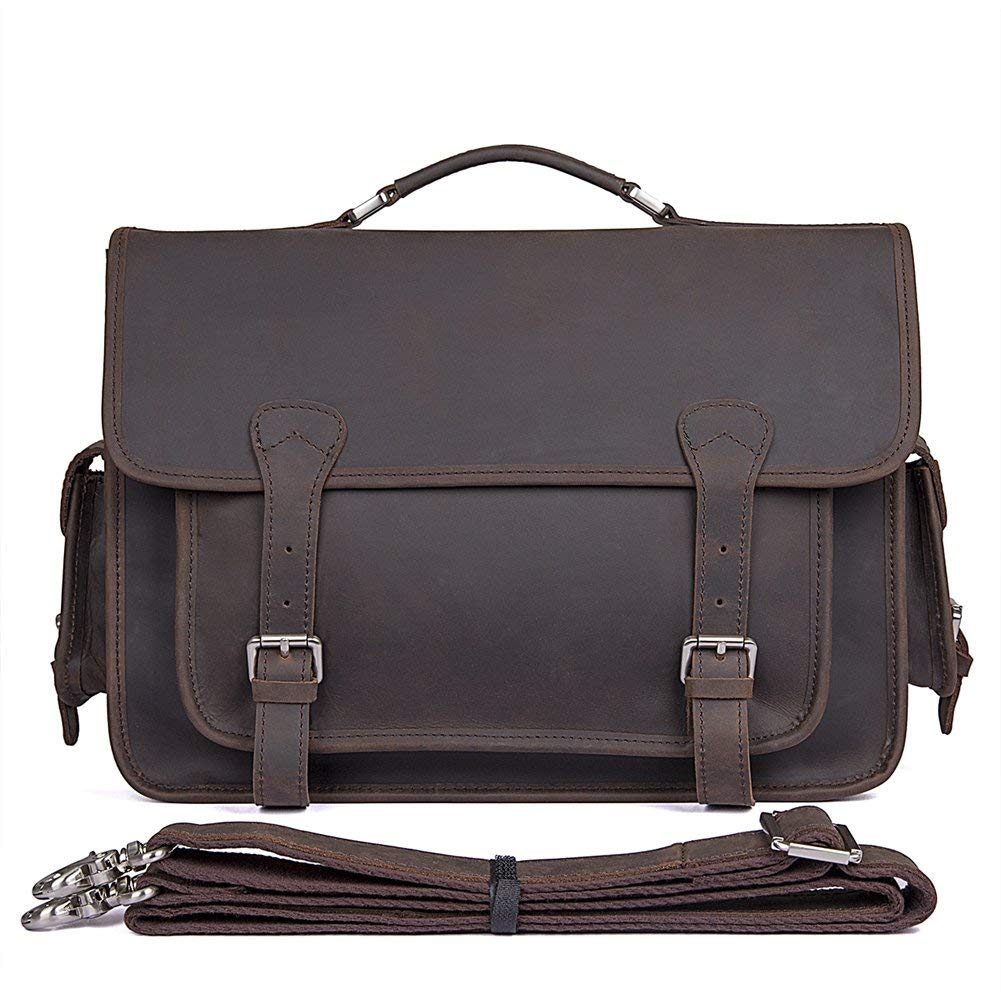 b2cfffa589 Get Quotations · Genda 2Archer Mens Vintage Leather Briefcase Tote Bags Fit  14