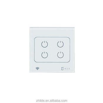 Wifi Smart Home Touch Control Light Switch With Led Indicator White