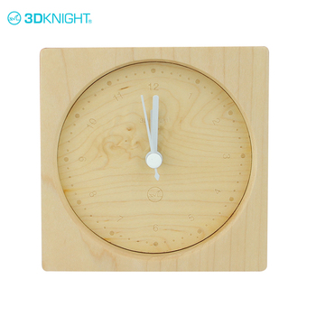 High quality solid maple wood free standing clocks desk alarm clock wooden