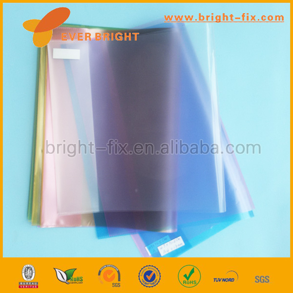 Best price 2014 transparent colored plastic sheet,comic book plastic covers,Colorful cheap transparent book cover