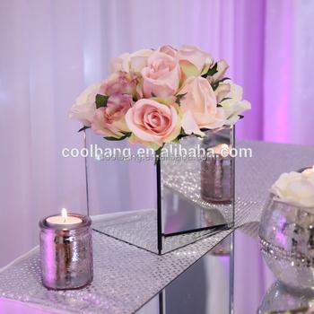 China wholesale square flower vase wedding centerpieces mirror box china wholesale square flower vase wedding centerpieces mirror box vase junglespirit Images