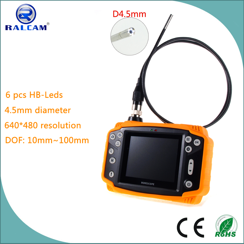 High image quality 640*480 resolution 90 degree FOV 4.5mm diameter video borescope for aircraft inspection